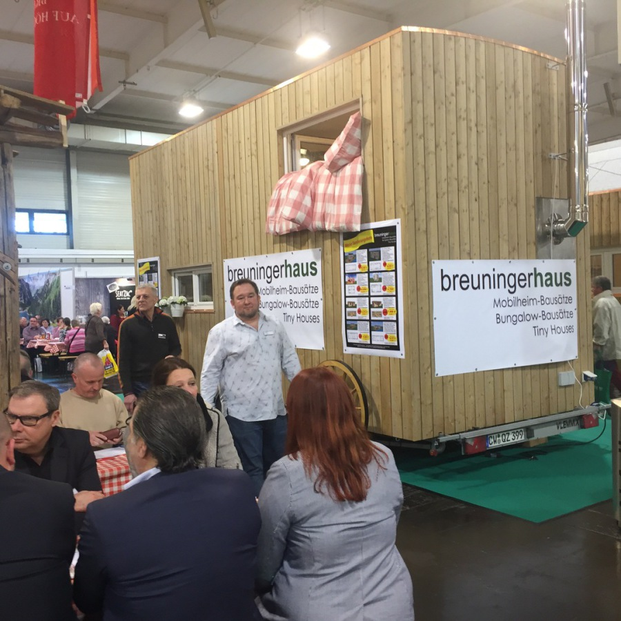 "Tiny House ""Texas"" auf Messe Reise + Camping in Essen 2017"